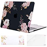 MOSISO MacBook Air 13 inch Case 2020 2019 2018 Release A2179 A1932 Retina Display, Plastic Pattern Hard Shell & Keyboard Cover & Screen Protector Only Compatible with MacBook Air 13, Pink Peony