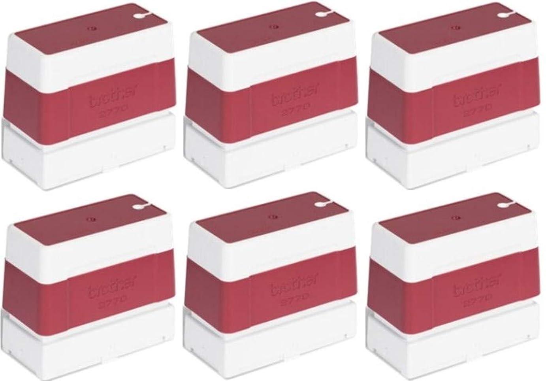 ボスに対してふさわしいBrother PR2770R6P セルフインク式スタンプ (6個パック) レッド SC-2000とSC-2000USB用 StampCreator Proスタンプシステム 各スタンプは50000回のスタンプが可能 サイズ27mm x 70mm