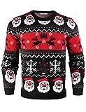 iClosam Maglione Natalizio Unisex Donna Uomo Invernale Stampare Cotone Ugly Sweater Pullover in Maglieria...