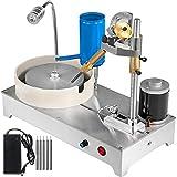 VEVOR Máquina de Joyería Pulidorcon Tanque de Agua, Máquina de Tallado de Gemas Pulidora de Roca y Joyas 1800RPM