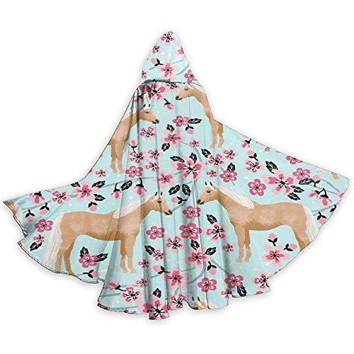 Palomino Horse Adult Tunika Hooded Knight Halloween Mantel Robe Kostüm Weihnachten, 59Inch (150,40Cm)