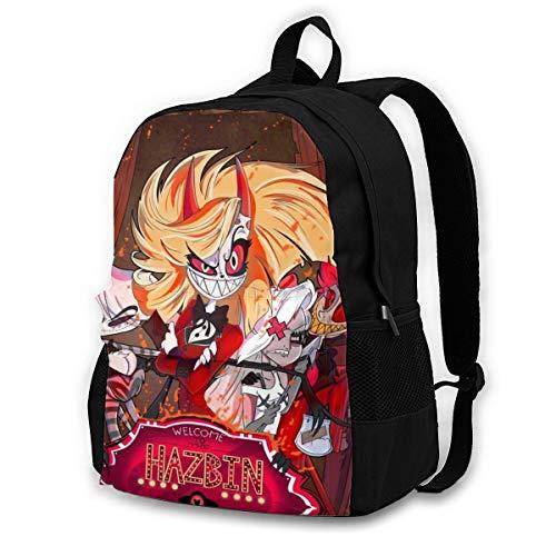 Childrens School Bag Hazbin Hotel C Casual Shoulder Bag Sports Rucksack Lightweight Backpack for Men/Women/Kids Black 145526586