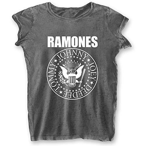 Rock Off Ladies Ramones Presidential Seal Oficial Camiseta Mujeres señoras (Large)