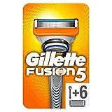 Gillette Fusion5 - Maquinilla de Afeitar con 6 Recambios, Paquete Apto para el Buzón de Correos