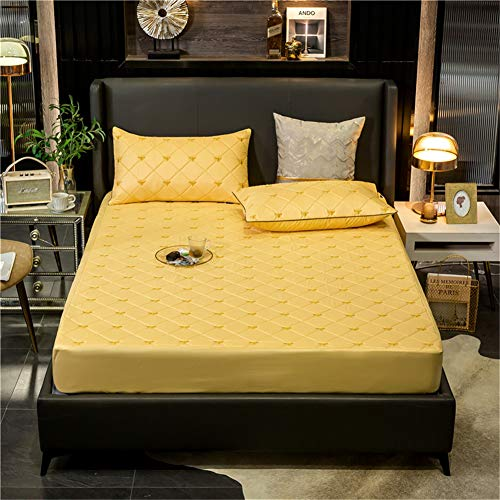 YCDZ Mattress Protective Cover, Anti-allergic, Breathable, Anti-bug and Mites, No Odor, Suitable for All Bed Types (Apricot,120x200x40cm)