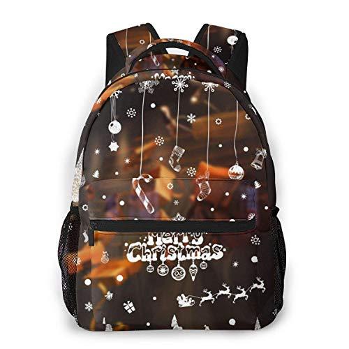 Lawenp Mochila Unisex de Moda, Pegatinas Transparentes de Navidad China, Mochila Ligera para Ordenador portátil, para Viajes Escolares, Acampar al Aire Libre