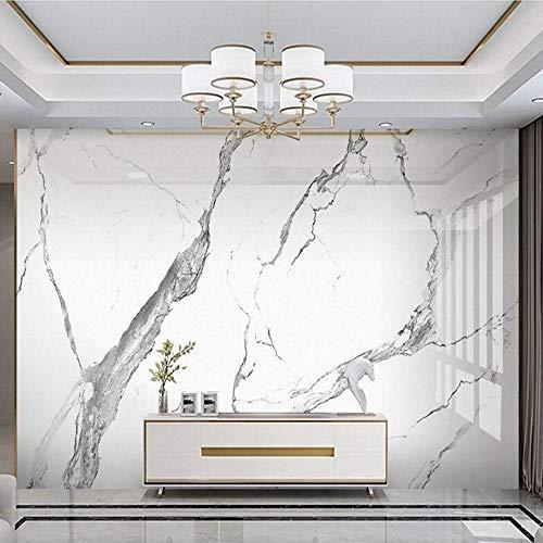 3D vliesbehang foto vlies premium fotobehang wit marmeren achtergrond luxe wandafbeelding van het licht 3D 430*300 430 x 300.