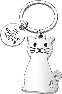Car Key Chain Cat Keychain for Women Men Kids Best Friend Boyfriend Girlfriend Daughter Son Mom Dad Gifts