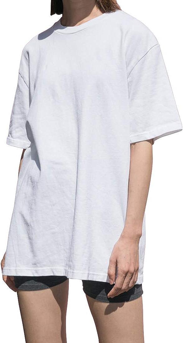 Oversized T Shirts Women Summer Fashion Aesthetic Vintage Cute White Black Cotton Loose Basic Long Tunic Top Plus Size