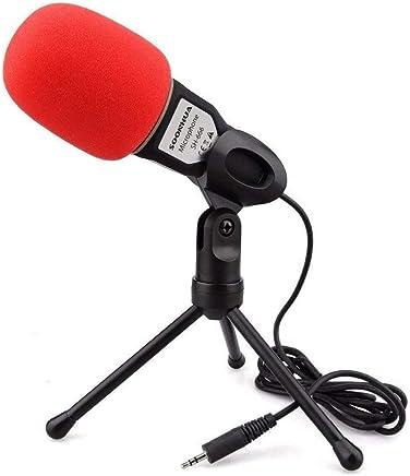NanYin Nuovo Microfono da Studio Professionale con Microfono per Podcast per PC con Microfono Skype per MSN (Color : Black with Red Cover) - Trova i prezzi più bassi