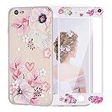 LaYoung iPhone7ケースカバー 保護フィルム付き iPhone8 ケース アイホン7ケース スマホケース 保護カバー 花柄 おしゃれ 人気 かわいい ソフト 女子 携帯case(iPhone7 4.7, ハイビスカスの花柄)