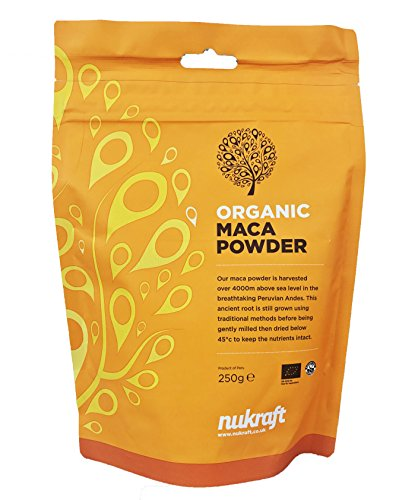 Organic Raw Maca Root Powder by Nukraft: 250g (Also Available in 500g, 1kg and 10kg)