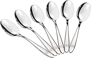 Morcte 18/10 Stainless Steel Dessert Spoons, 12-Piece Teaspoon, 7.2-INCH