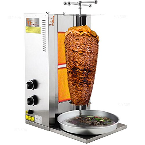 TurcoBazaar 2 Brenner – Erdgas – 55 kg Kebab Maschine Doner Kebab Grill Maschine Rotisserie Gyro Griller
