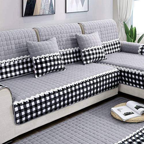 Jonist Funda de sofá Antideslizante Simple, Protector de Muebles de cojín de Asiento para sofá ensamblar Sofa-B-70180cm