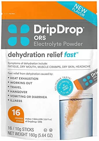 DripDrop ORS Patented Electrolyte Powder For Dehydration Relief Fast For Workout Hangover Illness product image