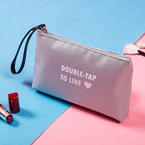 POMU Kosmetiktasche mit Buchstabendruck, mit Reißverschluss, modisch, Make-up-Tasche, Reise-Organizer 6000-1