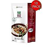 PureRice Arroz Konjac Sin Gluten 10 Pack 200 gramos | Vivir Sin Gluten Con Harina Gluten Free Con La Pasta Contra Intolerancia Gluten | Bajo En Calorias Y Carbohidratos