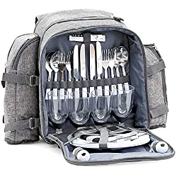 CampFeuer picnic backpack for 4 people