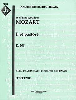 Il rè pastore, K.208 (Aria: L'amero saro costante (soprano)): Set of Parts [A2984]