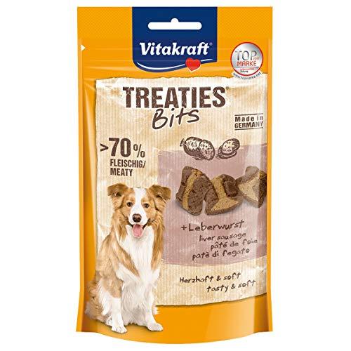 Vitakraft - 4St. Leckere Treaties Bits Leberwurst a 120g für Ihren Hund