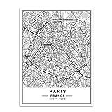 XWArtpic Nordic Minimalistischen Weltberühmten Stadtplan