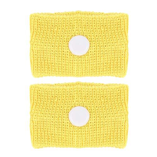 Bracelet anti-dégoûtant pour autobus 5 couleurs pour le mal des transports/le mal de mer/les nausées matinales Bracelet ajustable anti-nausée Renforcer l'immunité (jaune)