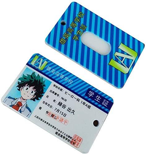 Goth Perhk Anime My Hero Academia/One Piece/Naruto Ausweis Abzeichen Halter Bus Karte Abdeckung Ärmel für Kinder Teenager und Anime Fans - 1.Izuku Midoriya Deku