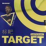 SANWEI Target (National) Pips-in Table Tennis Rubber (Blue Sponge) (Black)