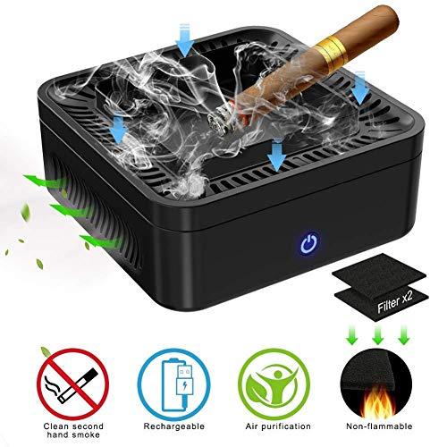 Zhuotop - Purificador de Aire Multifuncional para Cenizas, Filtro de Carbono de Rendimiento, Carga USB, Protege la Salud Familiar