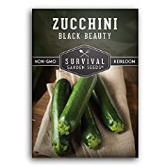 DELICIOUS ZUCCHINI - Black Beauty is a favorite zucchini for its tender glossy black squash. Excellent for a variety of culinary uses, including frying, slicing, and baking. BOUNTIFUL HARVEST - Black Beauty are known to be incredibly prolific, produc...