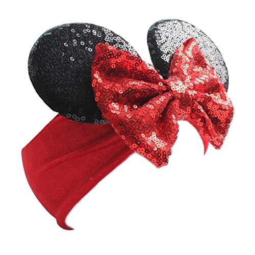 Minnie Mouse Ears - Maus Ohren - Stirnband mit Schleife für ein kleines Mädchen - Zum Geburtstag oder Disney Trip Kostüm