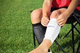 Kwik Goal Adult Shin Guard Compression Sleeves, White