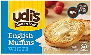 Udis Gluten Free Foods, English Muffins White 6 Count, 15.7 Ounce