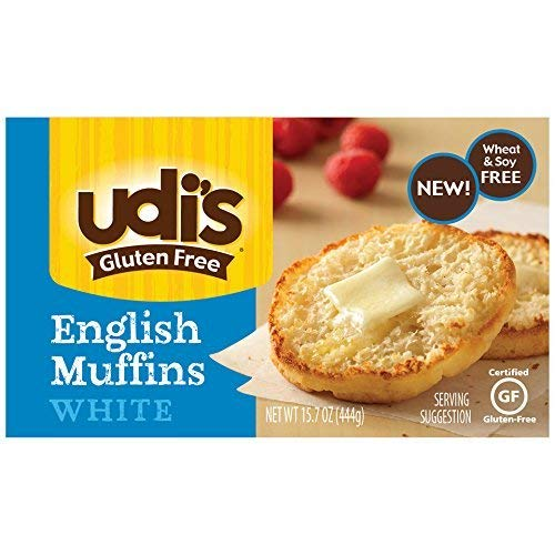 Udis Gluten Free Foods, English Muffins White ,15.7 Ounce [Case of 6] case of 6