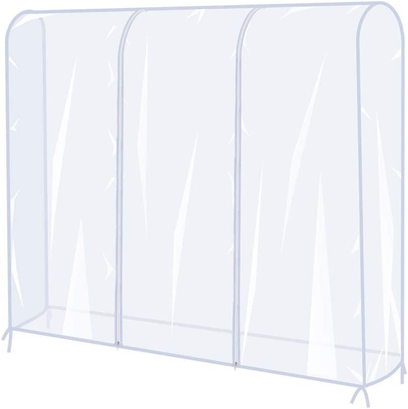 Garment Rack Cover 6 Ft Clear Hanger Pr Fees free Clothes Rail Coat Max 46% OFF