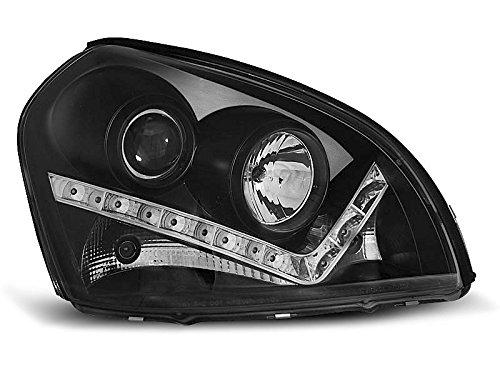 1 paar koplampen Tucson 04-10 Daylight LED zwart (U05)
