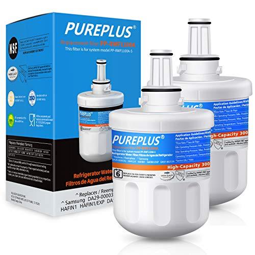 PUREPLUS DA29-00003G Replacement for Samsung DA29-00003B Aqua-Pure Plus DA29-00003A,DA20-00003G,HAFCU1,DA29-00003F,RFG297AARS,RFG237AARS,RSG257AARS,RS22HDHPNSR,RWF1100A,Refrigerator Water Filter,2PACK