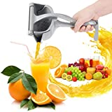 OUDEW Stainless Manual Fruit Juicer Heavy Duty Manual Fruit Juicer Press,Quality Detachable Squeezer Lemon Juicer,Easy to Clean,High Quality Manual Juicer for Lemon, Orange, Grape, etc