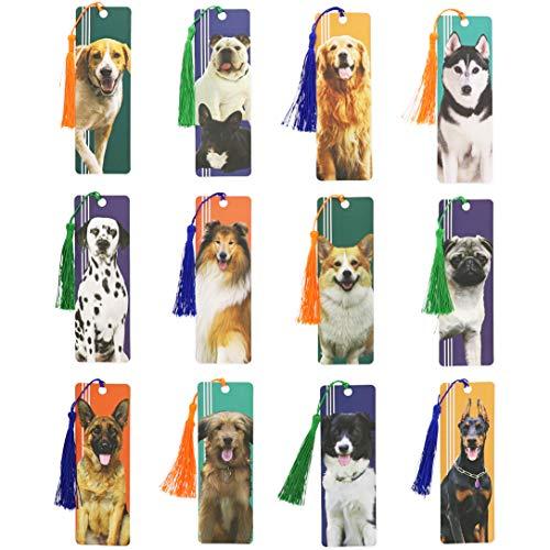Segnalibri per cani con nappa (12 motivi, 72 pezzi)