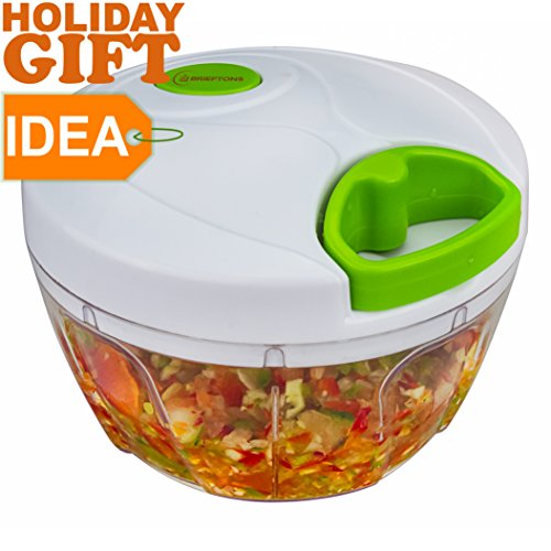 Brieftons Manual Food Chopper, Compact & Powerful Hand Held...