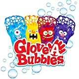 Glove-A-Bubbles Zing 4 Packs with Tray ,Set Includes 1 Blue Monster, 1 red Monster, 1 Yellow Monster, 1 Purple Monster : Great for Outdoor Play, Gift for Boys and Girls
