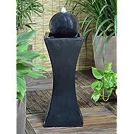 Solar Powered Black Column Feature