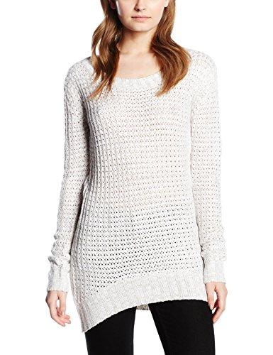 Urban Classics TB739 Damen Pullover Ladies Long Wideneck Sweater, Gr. Medium, Weiß (offwhite 555)