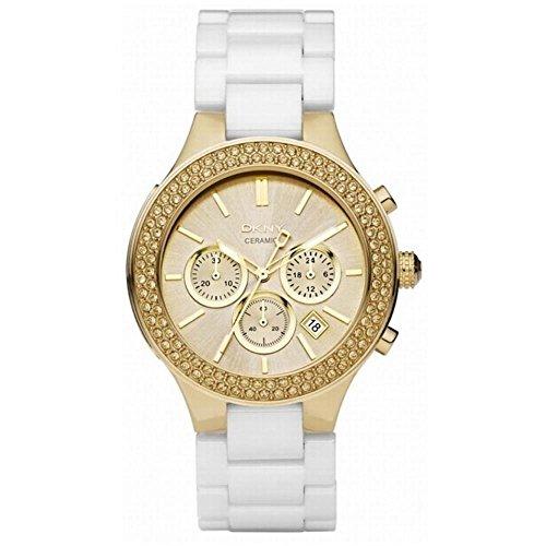 DKNY NY8260–Uhr, Keramik-Armband Weiß