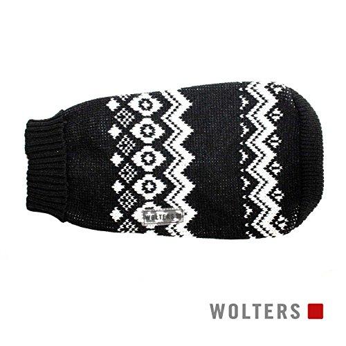 Wolters Noorse trui voor honden-, 50, Zwart/Wit