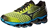 Mizuno Men's Wave Prophecy 4 Running Shoe, Lime Punch/Dude Blue/Black,...