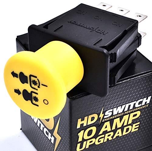 HD Switch - 10 AMP Upgrade - Blade Clutch PTO Switch Replaces John Deere AM131966 L120 L130 - D140 D150 D155 D160 D170 - LA130 LA140 LA145 LA150 LA155 LA165 LA175