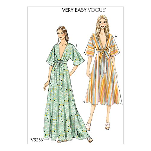 Vogue Patterns jurk met patroon, meerkleurig, maten groot tot 2 x groot