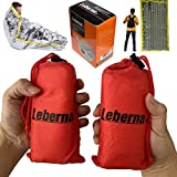 Emergency Sleeping Bag Survival Bag 2 Pack | Survival Sleeping Bag Emergency Sleeping Bags Emergency Bivy Sack | Portable Emergency Blanket Survival Gear Emergency Bivvy Thermal Sleeping Bag Camping